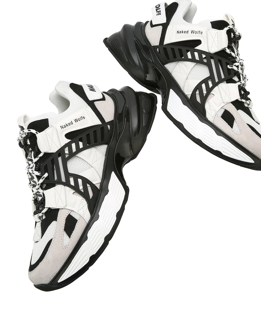 Assassin Black/White Leather