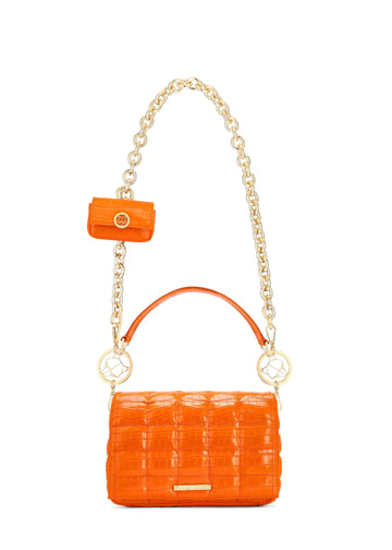 CHARLIZE Orange Croc Leather