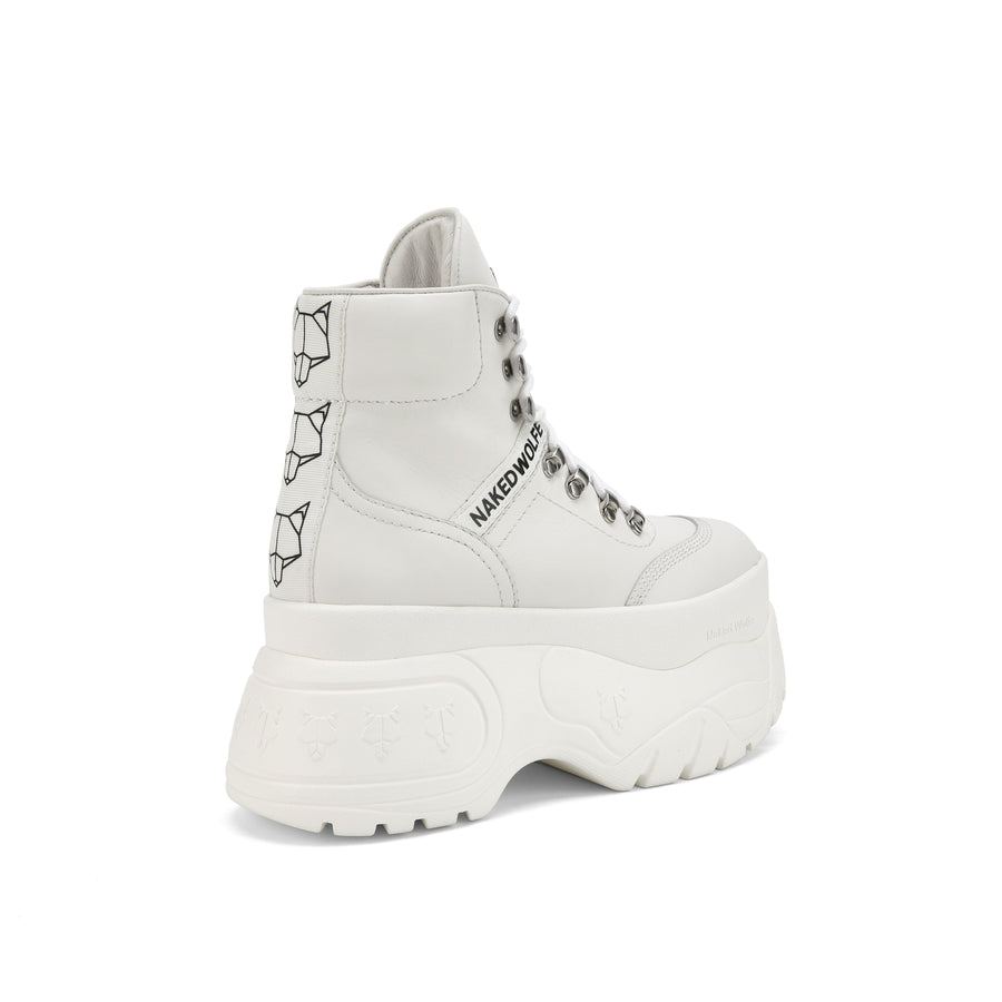 Spike White Leather - Naked Wolfe