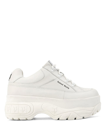 Stomper White Leather