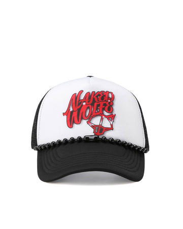 Airbrush Trucker Hat Black