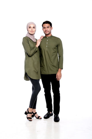 Olive Green Couple Set