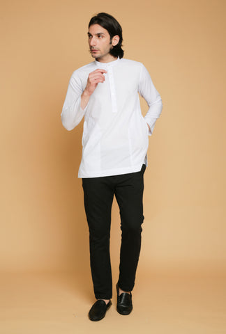 kurta warna putih | men kurta in white