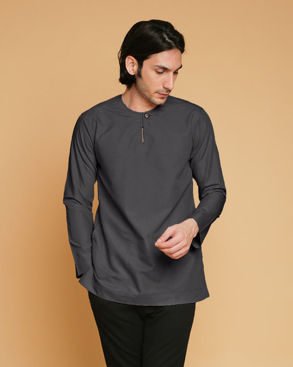 Kurta Teluk Belanga Klasik V2 Executive Grey