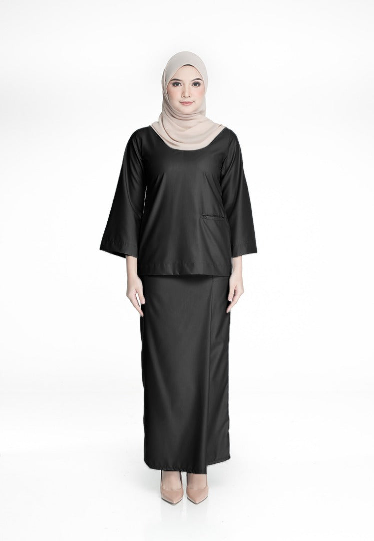 Azizah Mini Kurung Black