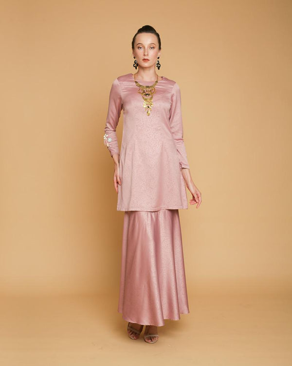 Queen Luxe Kurung Dusty Pink