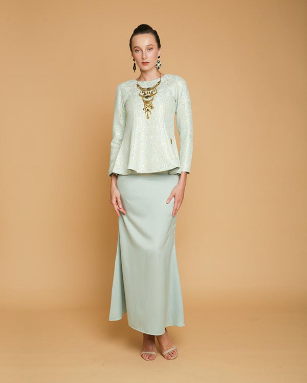 Camellia Luxe Mini Kurung Mint Green