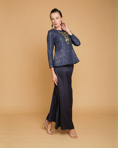 Camellia Luxe Mini Kurung Dark Blue