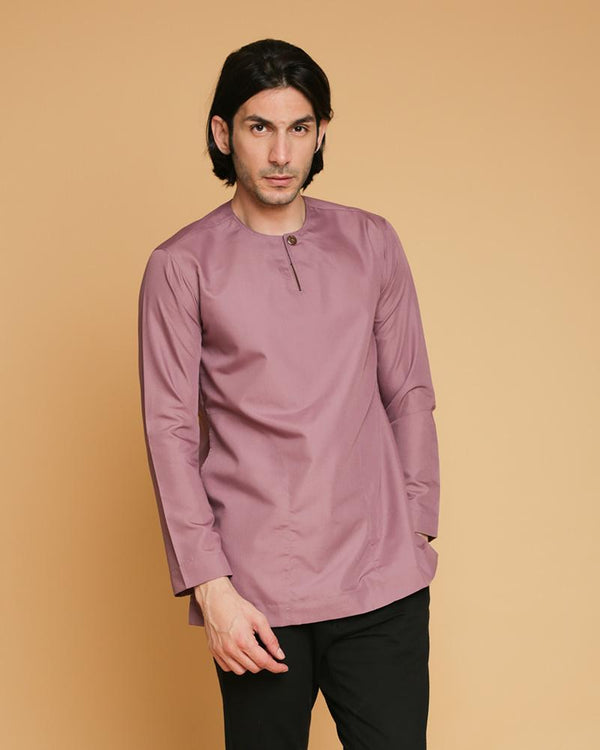 Kurta Teluk Belanga Klasik Dusty Purple