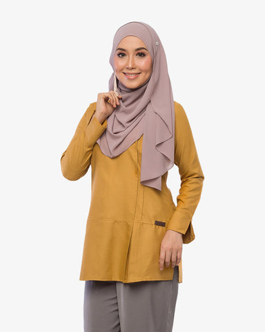 Pleated Blouse Clara Silky Yellow