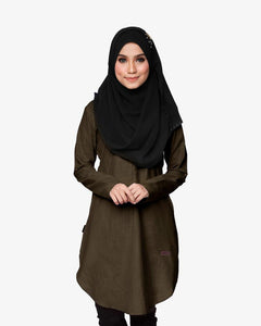 Primadona tunic blouse raya 2017 dark brown