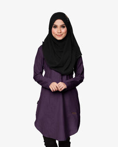 Primadona tunic blouse raya 2017 deep purple