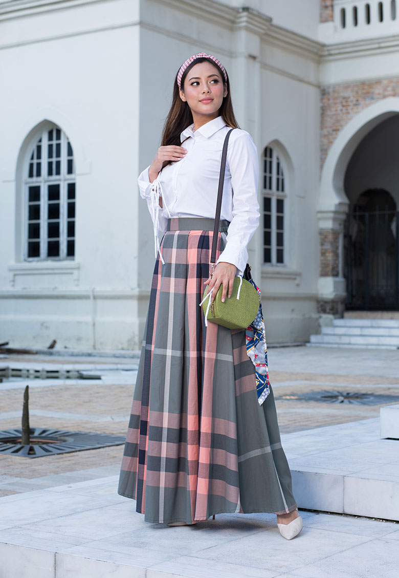 Felora Pleat Skirt Green
