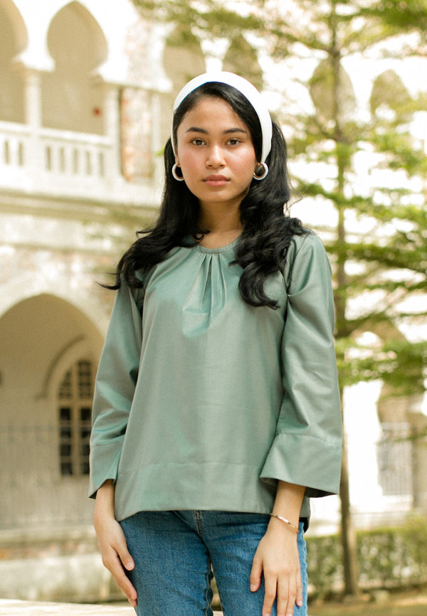 Helena Blouse Dusty Green