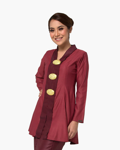 Kebaya Queen Dark Red