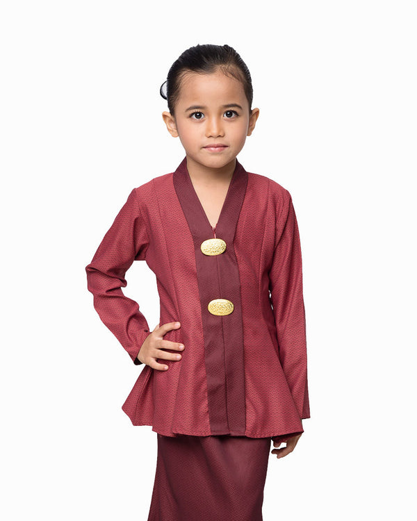Kebaya Princess Dark Red