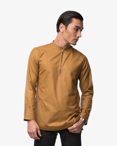 Kurta Bangsawan Brown Gold - CIRGARO
