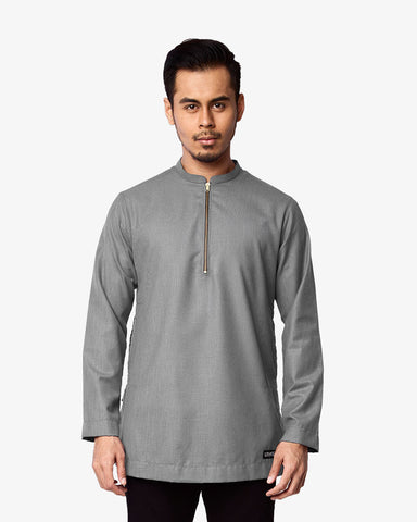 Kurta Bangsawan Light Grey - CIRGARO