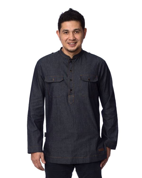 Kurta Safari Denim #1