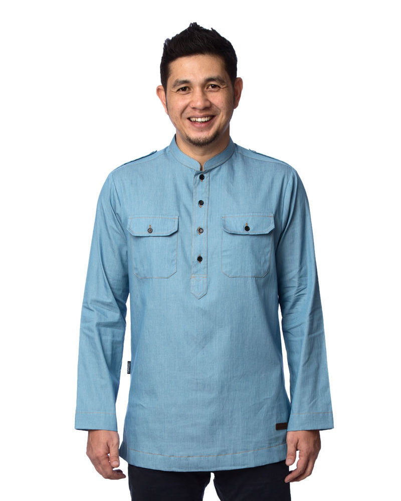 Kurta Safari Denim #5