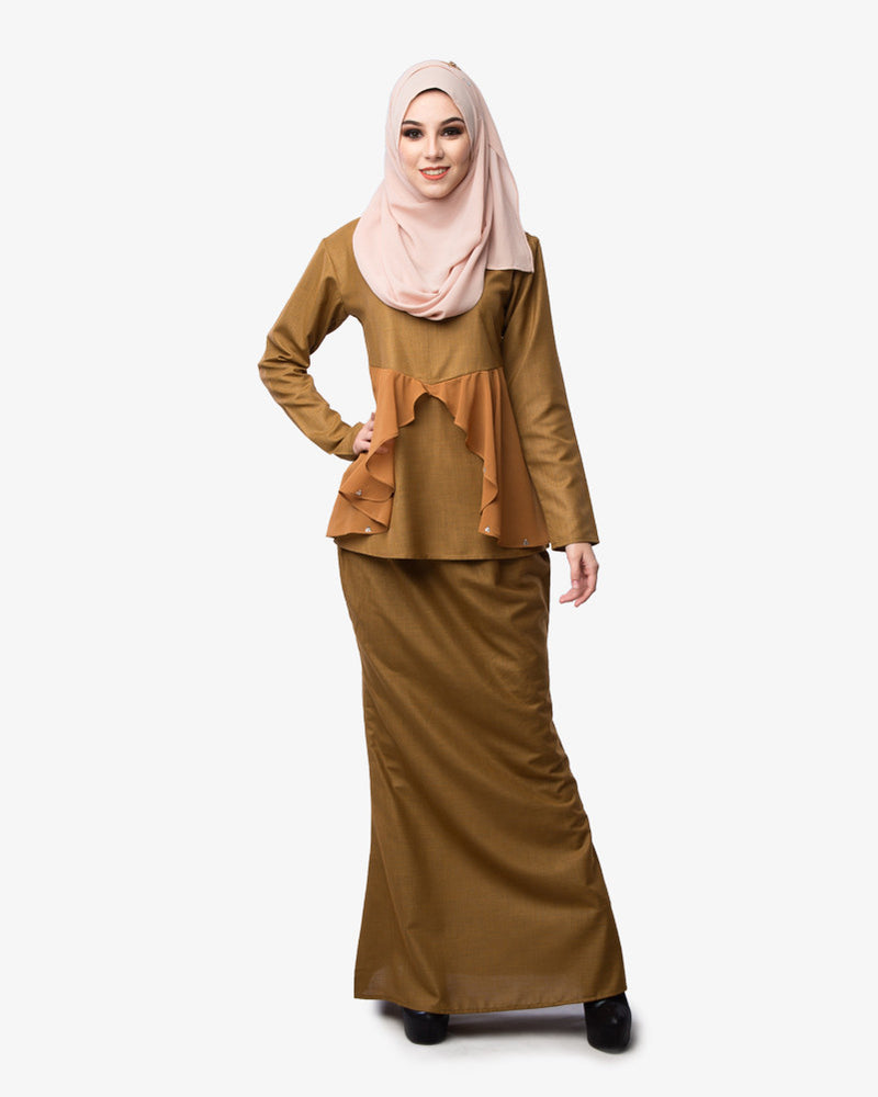 Kurung Daisy Brown Gold - CIRGARO - 1