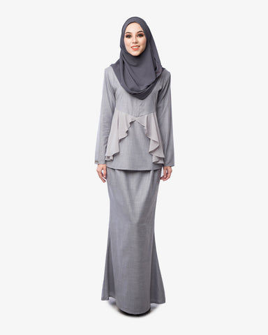Kurung Daisy Light Grey - CIRGARO - 1