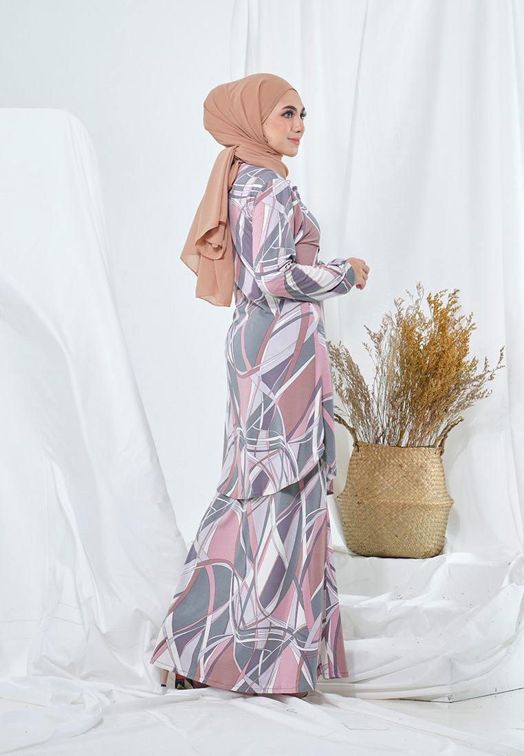 Layla Kurung Moden Dusty Green