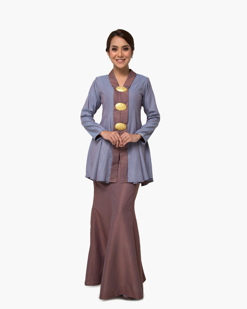Kebaya Queen Brown Blue
