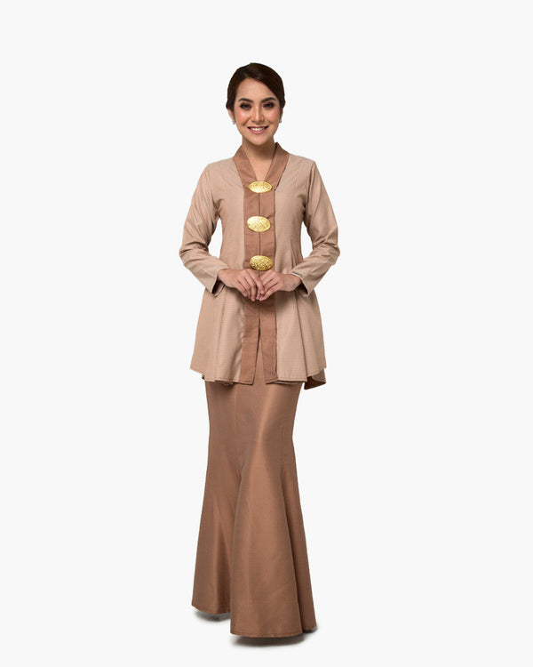 Kebaya Queen Brown Gold