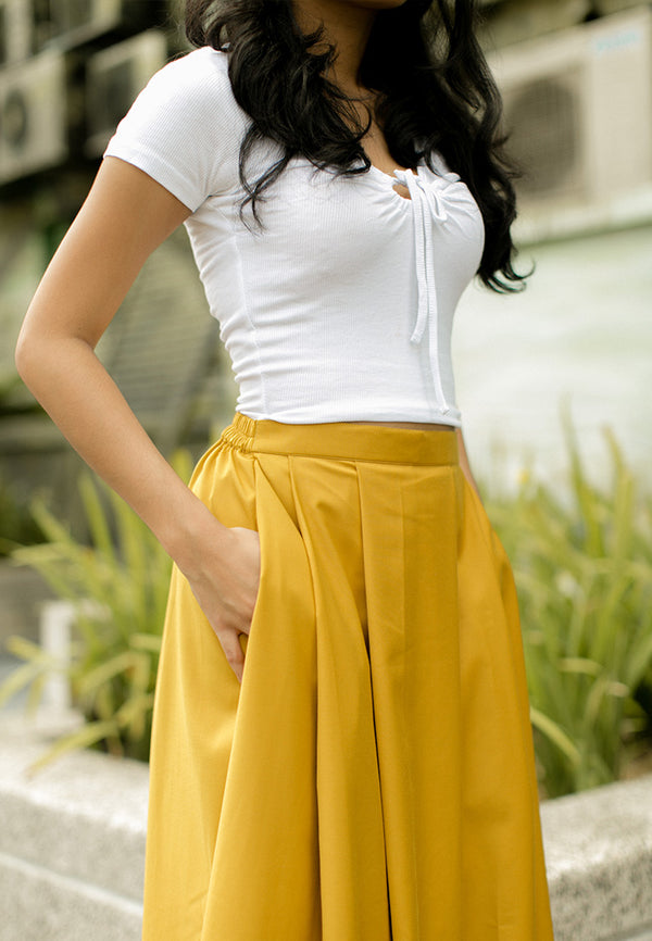 Nadhea Skirt Mustard Yellow