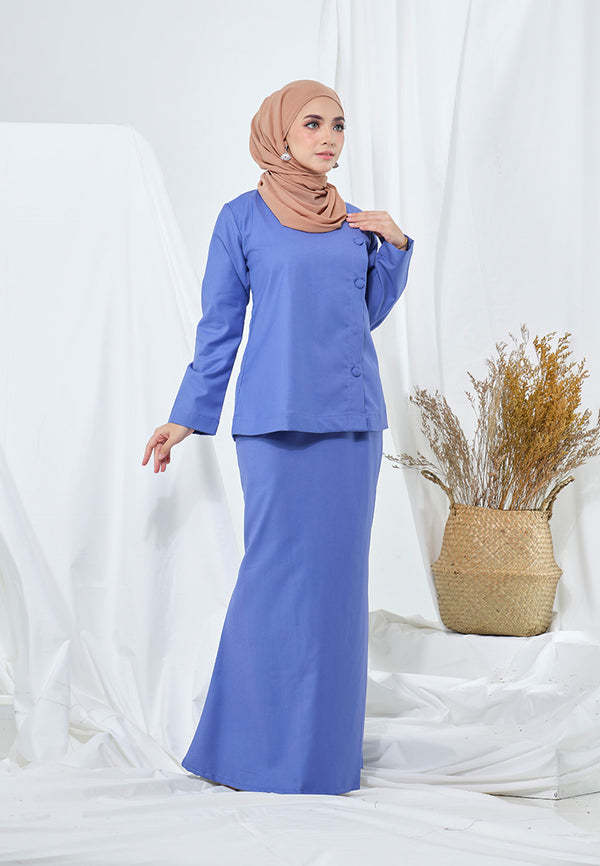 Seroja Kurung Dusty Blue