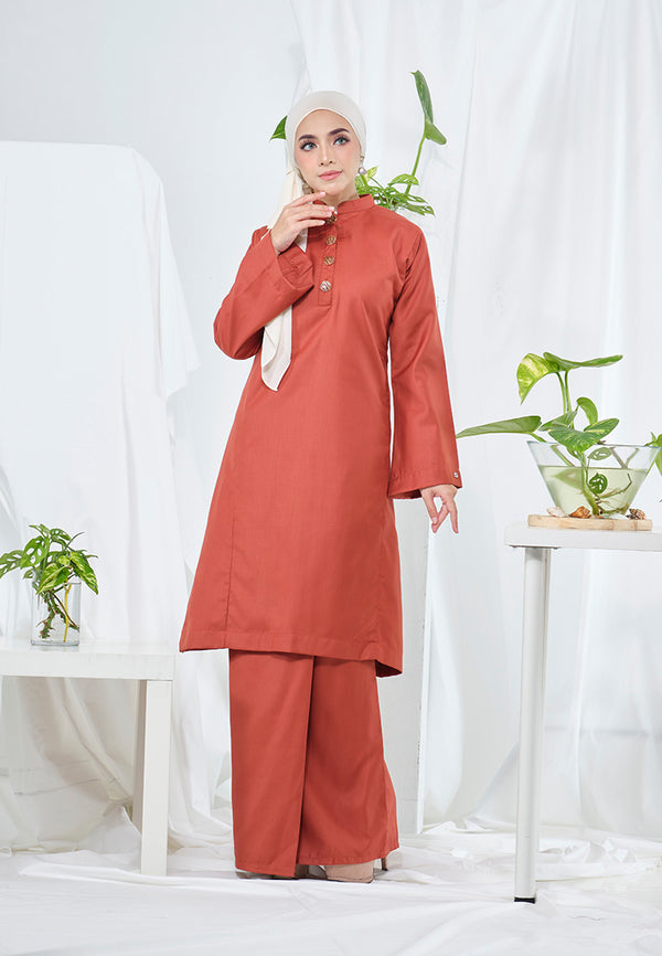 Suri Kurung Klasik Burnt Orange