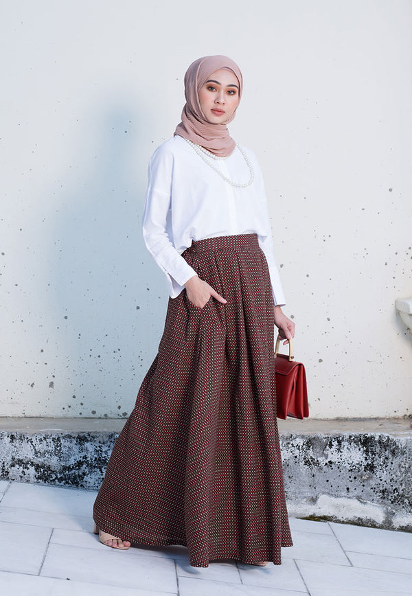 Yasmina Skirt Dark Brown
