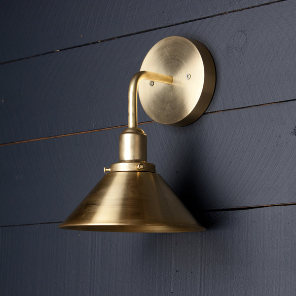 Brass Bent Arm Wall Sconce