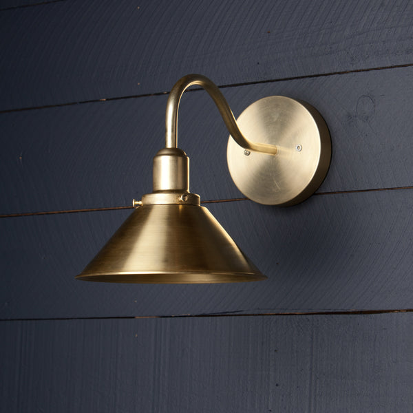 Brass Cone Wall Fixture