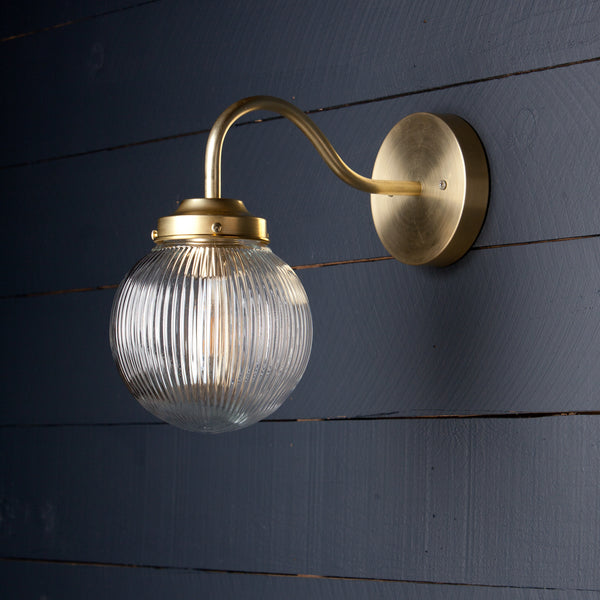 Brass Gooseneck Wall Sconce