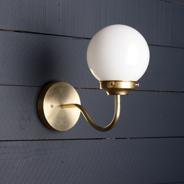 Milk Glass Wall Sconce