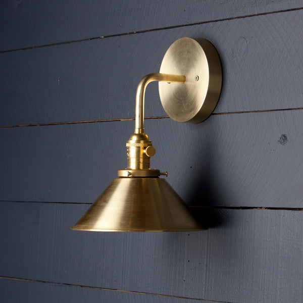 Brass Shade Wall Sconce