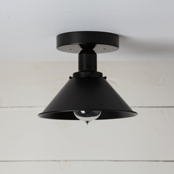 Matte Black Shade Ceiling Light