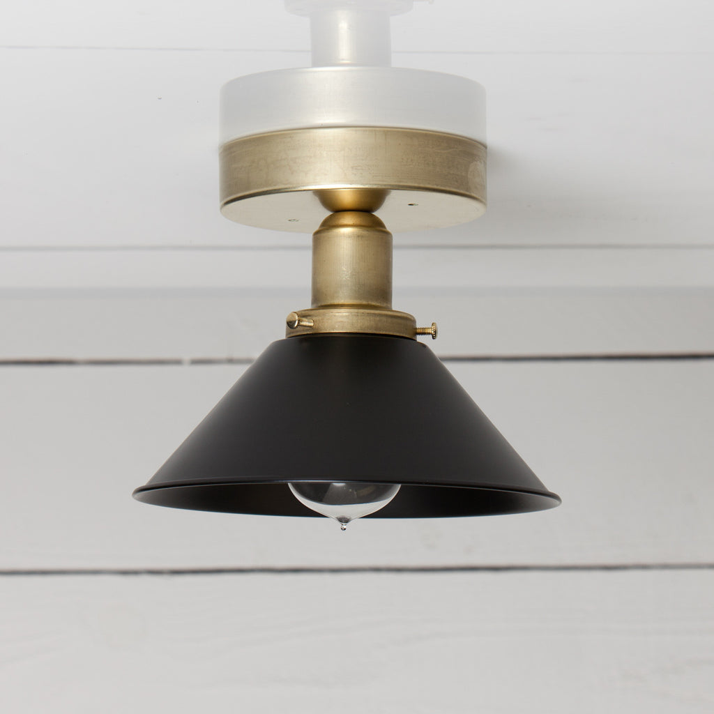 Black and Brass Shade Ceiling Light