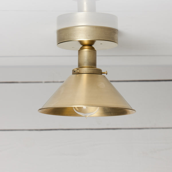 Brass Shade Ceiling Light