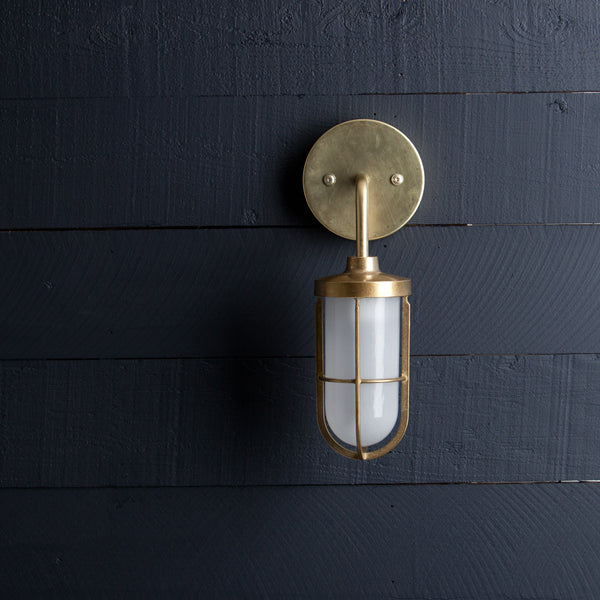 Heavy Vintage Brass Sconce