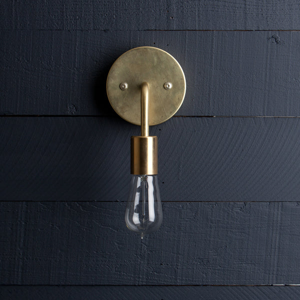 Brass Wall Sconce Bare Bulb