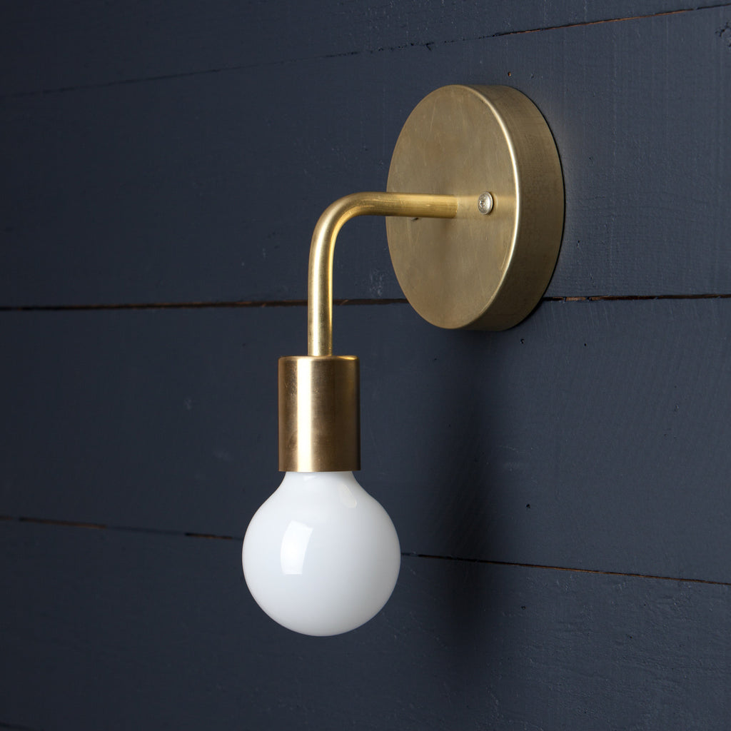 Mid-Century Brass Wall Sconce