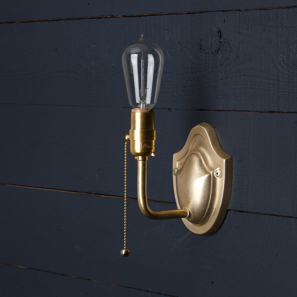 vintage brass wall sconce pull chain