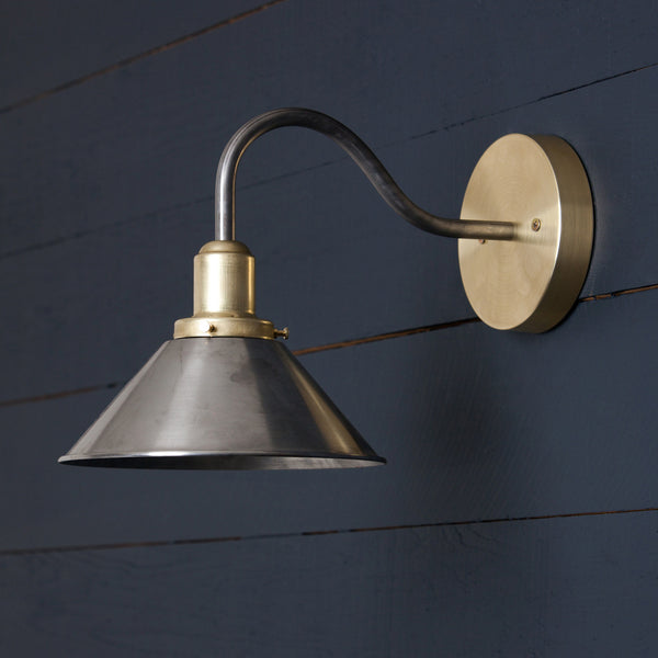 Gooseneck Metal Shade Wall Sconce