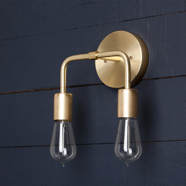 Double Brass Wall Sconce