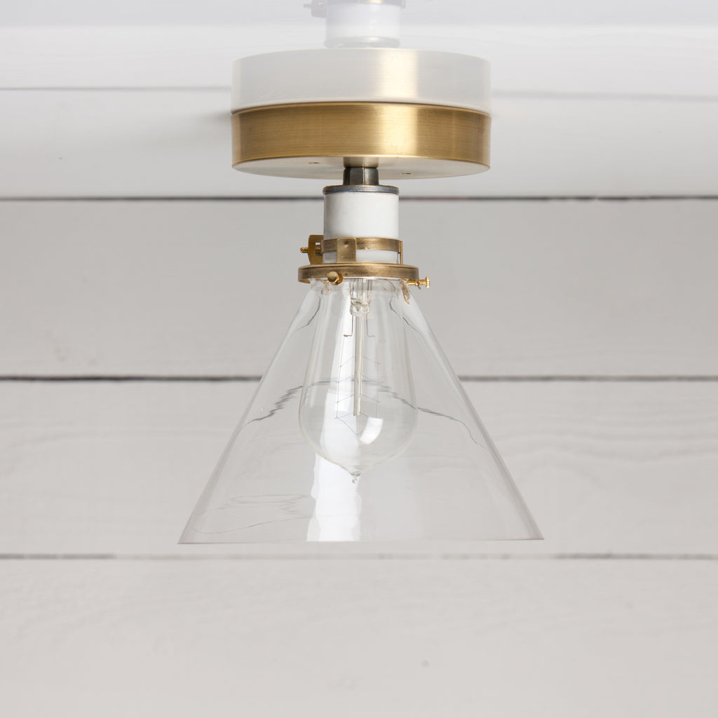 Glass Cone Shade Ceiling Light Two Kings Amp Co