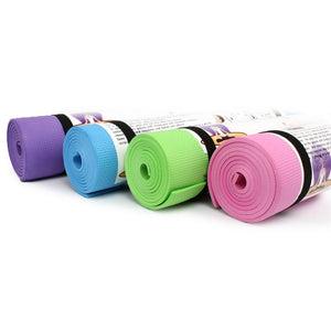 yoga mat purple blue green pink