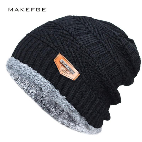 Men Soft Knitted Beanie Cotton - Shopodium